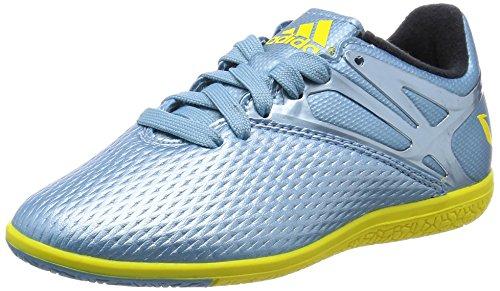 adidas  Messi 10.3 Indoor Junior,  Jungen Sneakers Blau / Gelb / Schwarz