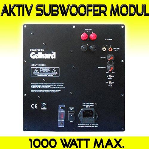 Gelhard GXV1000S AKTIV SUBWOOFER Einbau MODUL - 1000WATT MAX - 500WATT RMS 500w 4 Ohm Subwoofer
