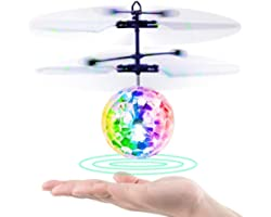 Betheaces Bolas Voladoras, RC Helicopteros Teledirigidos con Luces LED Brillantes, Juguete Volador Mini Dron Juguete para Niñ