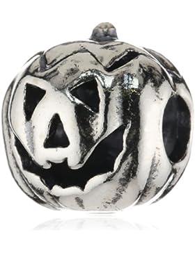 TrollBeads Damen-Bead Halloween Kürbis 925 Sterling Silber TAGBE-30042
