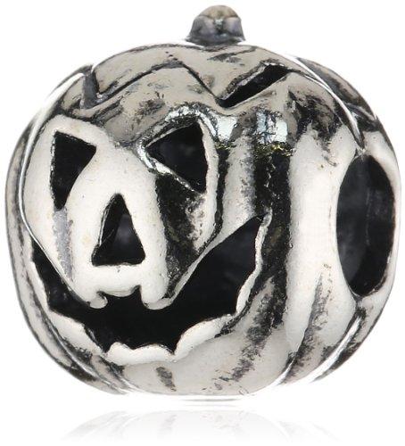 TrollBeads Damen-Bead Halloween Kürbis 925 Sterling Silber TAGBE-30042 (Einen Halloween In Für Die Kürbis Gesichter)