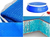 Jilong 6.4 Feet Floating Solar Pool Plastic Round Cover With Air Pocket Blue New Wilsons Direct