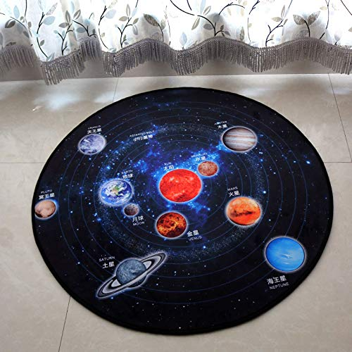 Connectez-vous pour voir les images de juegoArt redondo Alfombra de la sala d'ete Alfombras de cama lavables junto à la mesa, 90X90cm, Skyplaymat estrellado bebé