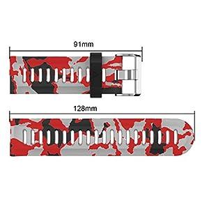 TOPsic Garmin Fenix 3 correa de reloj, Banda Reemplazo de Silicona Suave Deportiva con Herramientas para Garmin Fenix 3 / reloj elegante de Fenix 3 HR Multi-colors (Pattern-c)