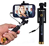 #7: Mystical Master™ Selfie Stick with Wire/Aux Cable {With New Logo} (No Bluetooth or Battery) for taking Photos & Videos on all Mobile Phones, Original Premium & Best Quality, Light Weight, Best Price Gift, Long Length Extendable & Foldable Monopod, Golden Selfie Stick for iPhones (iOS 5.0+) 4s, 5s, 6s, 6s Plus, Android Phones, Samsung Galaxy, Note, Edge, Gionee, Intex, Karbonn, Lenovo, Nokia, Nexus, Oppo, Coolpad, Sony