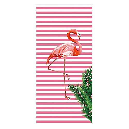 RdChicLog Schönes Badetuch Schnelltrocknend Handtuch Stranddecke für Reise Schwimmen Yoga Flamingo Muster Bad 150 x 70cm (17) Flamingo-muster