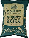 Mackie's of Scotland Mature Cheddar and Onion Potato Crisps 40 g (Pack of 24)