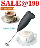 Hongxin Easezap Stainless Steel Handheld Milk Frother for Coffee Egg Beater Whisk Mixer,Black