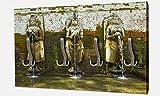 wandmotiv24 Garderobe Brunnen am Goa Gajah Tempel, Indonesien Wandgarderobe M0808 Querformat - 69x40 (BxH) - Dekorfolie Kratzschutz Matt Test