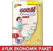 Goon Premium Soft Külot Bez 3 Beden Aylık Ekonomik Paket 156 Adet