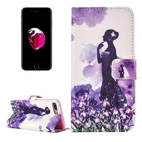Hülle für iPhone 7 plus , Schutzhülle Für iPhone 7 Plus Fireworks Pattern Diamond verkrustet Horizontale Flip Leder Tasche mit magnetischen Wölbung Halter & Card Slots & Wallet ,hülle für iPhone 7 plu IP7P2271F