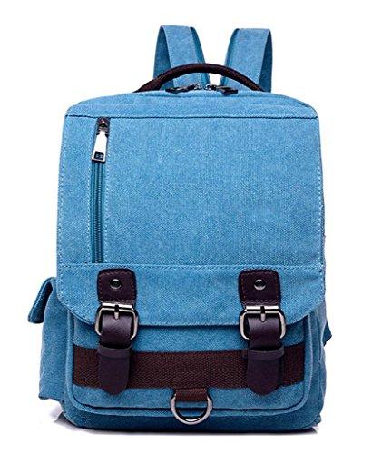 Auspicious beginning beiläufig retro Leinwand Outdoor-Sport-Rucksack Brust Tasche braun Blau