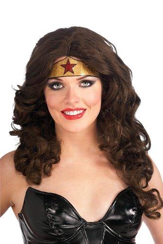 Wonder Woman Crown Glitter Sticker Tattoo Costume Accessory One Size