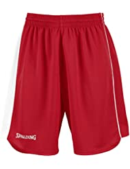 Spalding 4herii–Pantalones cortos Mujer, color rojo / blanco, tamaño XXX-small