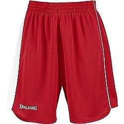 Spalding 4herii-Pantalones cortos Mujer, color rojo / blanco, tamaño XXX-small