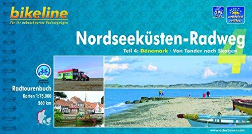 Preisvergleich Produktbild Bikeline Radtourenbuch, Nordseeküsten-Radweg Teil 4: Dänemark. Von Tonder nach Skagen, 1 : 75 000, 560 km, wetterfest/reißfest; GPS-Tracks Download
