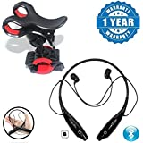 Drumstone KBP 730T Wireless Bluetooth Headphones Sports Neckband With TF Card Slot & Bike Mobile Phone Holder Mount Stand