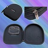 Headphone carry hard case for AKG K518 K518DJ K81 K520 JBL TMG81W TMG81B ON-EAR J03B J03S BOSE Quiet Comfort QC2 QC3 QC15 AE2W AE2 OE2i OE2 Around Ear SONY MDRZX100 MDRZX300 MDRZX600 MDRV55 MDR ZX100 ZX300 ZX600 MDR V55 Philips SHB9000 Audio Technica ATH SJ1 ES55 EX3 ESW10 FW5 Grado SR60i SR80i M1 SR225 SR325 RA2 RS1 Bowers & Wilkins B & W P3 P5 B&O H6 or other large size headphones 225mm x 193mm x 55mm