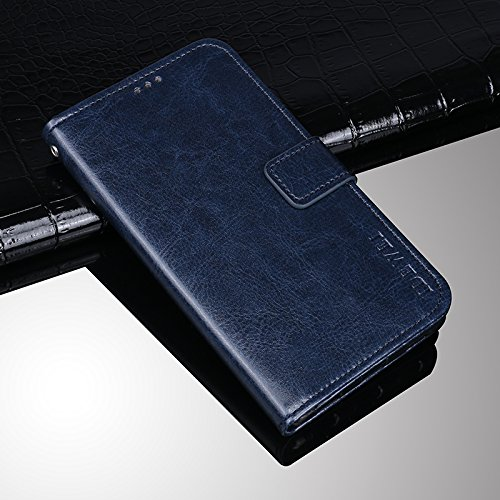 Umidigi S2 Funda Faux Cuero Billetera Funda para Umidigi S2 con Stand Funci n Azul oscuro