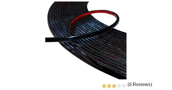 6mm 4.5m Bande baguette adh/ésive couleur noir pour auto voiture moto Aerzetix