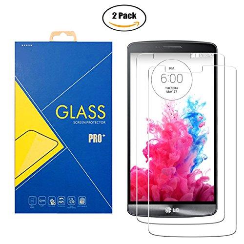 [2 Pack] Protector Cristal Vidrio Templado LG G3 D855 - Pantalla Antigolpes y Resistente al Rayado
