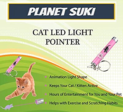 Interactive LED Light Pointer For Cats Kitten Interactive Shape Light Toy Exercise Chaser Play Pet Scratching Training Tool by Planet Suki