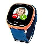 XPLORA - Telefonuhr für Kinder - Telefonieren, Mitteilungen senden und empfangen, Ruhezeiten, Sicherheitszonen, SOS, GPS-Ortung, Kalender (ORANGE SIM-Free)