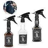 Bottiglia vuota spruzzatore acqua, 3Pack 650ml Bottiglia multifunzionale spray foschia ricaricabile per strumento parrucchiere Barbiere capelli(3 colori)