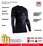 X-Bionic Energizer 4.0 Round Neck Long Sleeves, Strato Base Camicia Funzionale Donna, Nero (Opal Black/Arctic White), S
