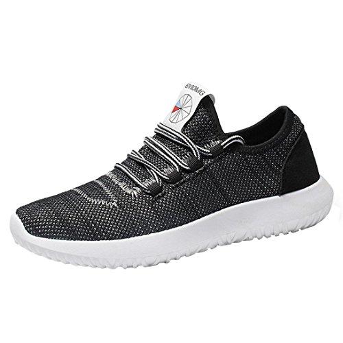 WWricotta LuckyGirls Zapatillas de Correr Hombre Malla Moda Casual Cómodas Calzado para Deporte Zapatos Bambas de Running Deportivas con Cordones Antideslizante