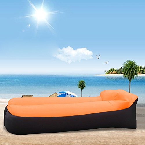 Air Lounger, wasserdichtes aufblasbares Sofa mit integriertem Kissen, Aufblasbarer Sitzsack für Camping den Strand  zum Fischen, Park, Strand, Hinterhof