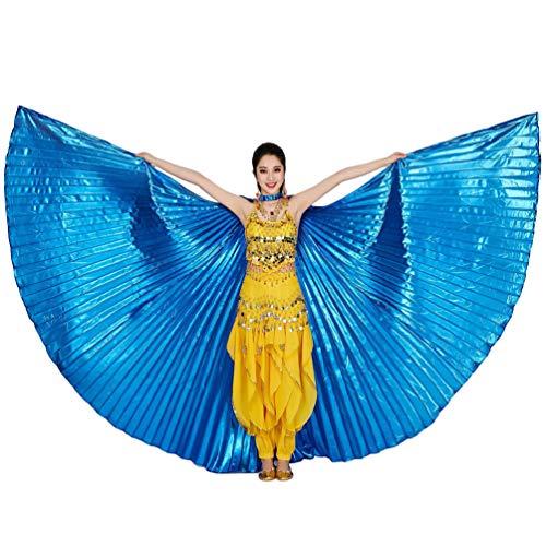 Bauchtänzerin Isis Flügel Keine Sticks Tanzkostüm-Zubehör Bauch Tanz Darstellende Künste Halloween Fasching 2# Königsblau (ohne Stock) ()