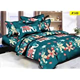 Comforter For DoubleBed - Double Bed Luxurious Comforter Set - 4 Pc Set - (1 Comforter + 1 Double Bedsheet + 2 Pillow Cover)