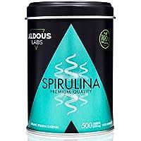 Espirulina Ecológica Premium para 165 días | 500 comprimidos de 500mg con 99% BIO Spirulina | Vegano + Saciante + Proteína vegetal | Libre de Plástico | Certificación Ecológica Oficial Ecocert y CAAE