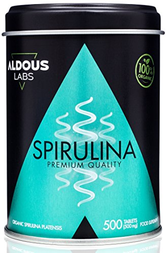 Premium Organic Spirulina for 165 days | 500 500mg tablets with 99% BIO Spirulina | Vegan + Saciante + Protein + DETOX | Free of Plastic | Ecocert Official Certification Ecocert and CAAE