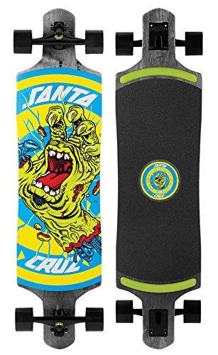 Santa Cruz Longboard Rob Hand Black Drop Thru, 10.0 x 40.0 Zoll, SANLOBROHADTBL
