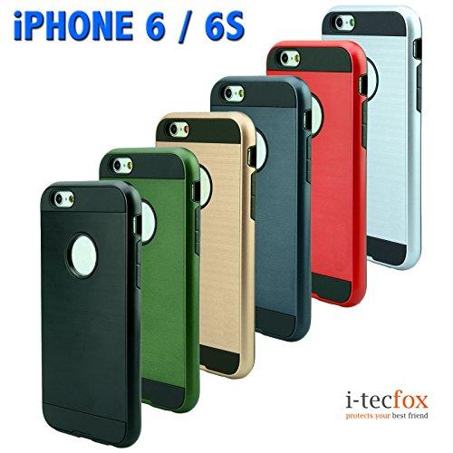 iPHONE 6 / 6S HÜLLE - DEFENDER CASE [ DUNKEL GRÜN ] :: OUTDOOR HYBRID BUMPER, Cover, Rahmen, Schutzhülle, Skin, i-tecfox blau