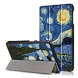 XITODA Custodia Galaxy Tab A6 10.1 - PU Pelle Smart Case mit Stand & con il Sonno/Sveglia la Funzione Cover per Samsung Galaxy Tab A 10,1 2016 T585/T580 Tablet Custodia Protezione,Cielo stellato
