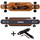 Best BAMBOU Longboard Skateboards - FunTomia Drop Through Longboard/Bambou et Fibre de Verre/Flex Review