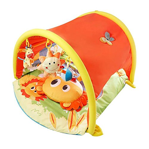 HTTMYY Baby Activity Play Gym Crawling Mat Musical Toys Toddlers Multifunction Tunnel Game Blanket 120x60x60cm