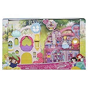 Disney Princess B6317 Castle Pink - Playset and Carrying Case with Cinderella Doll