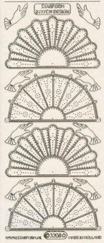 Unbekannt Starform Peel Off Motiv-Sticker 3208 transparent-silber vier Fächer, 8 Hände -