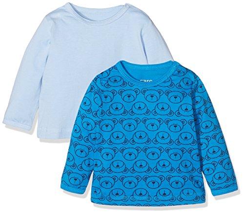 Care Baby-Jungen Langarmshirts Anke1, 2er Pack, Blau (Light Blue 700), 80