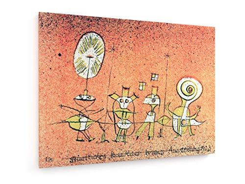 Paul Klee - Die Sonnenseite Postkarte für die Bauhaus-Ausstellung Weimar - 1923-80x60 cm - Leinwandbild auf Keilrahmen - Wand-Bild - Kunst, Gemälde, Foto, Bild auf Leinwand - Alte Meister/Museum - Bauhaus-kunst