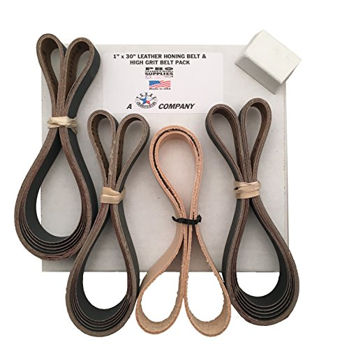 Preisvergleich Produktbild 2,5x 76,2cm (25mm x 762mm) Hohe Körnung & Leder Gürtel sortiert 15Pack 600, 800,1000Körnung w/Compound