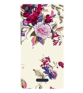 FUSON Peony Flowers Berries Currants 3D Hard Polycarbonate Designer Back Case Cover for Micromax Canvas 5 E481