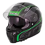 Spada SP16gradiente Full Face casco de motocicleta Moto choque Plain