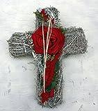 Grabschmuck Grabgesteck Gesteck Kreuz Totensonntag Allerheiligen Floristik #47238