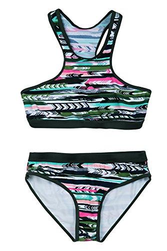 La-V Mädchen Bikini Zweiteilig Sport Multicolour/Größe 164/170