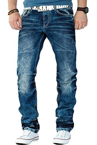 Cipo & Baxx Herren Jeans CD328-bans, Blau, 33W / 32L